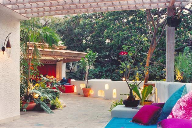 Open terrace design ideas for House garden design india