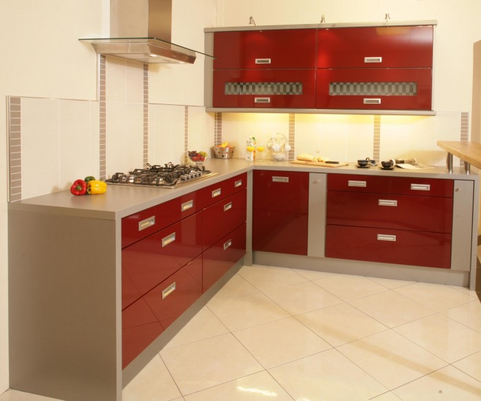 Amazing Red Modern Kitchen Design Part 21