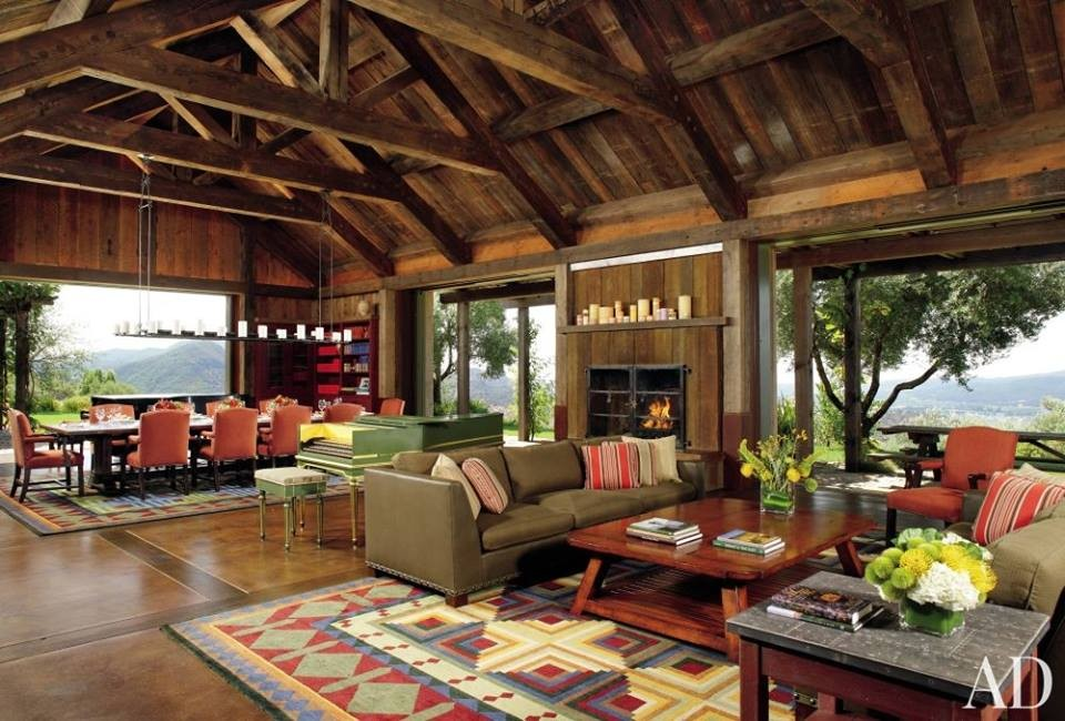 rustic outdoor living room for hom | Rustic Living Room Design Ideas