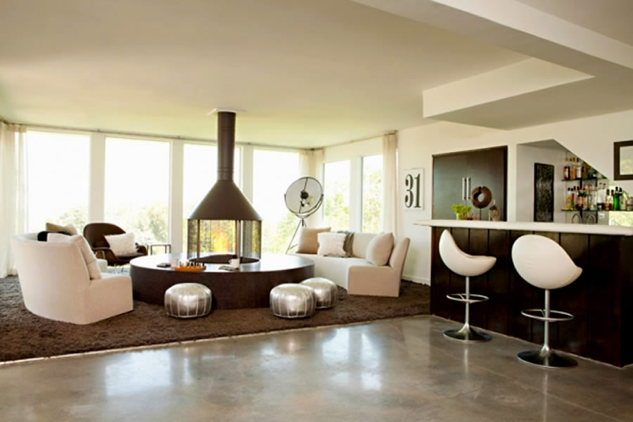 sophisticated and fashionable family room interior design family