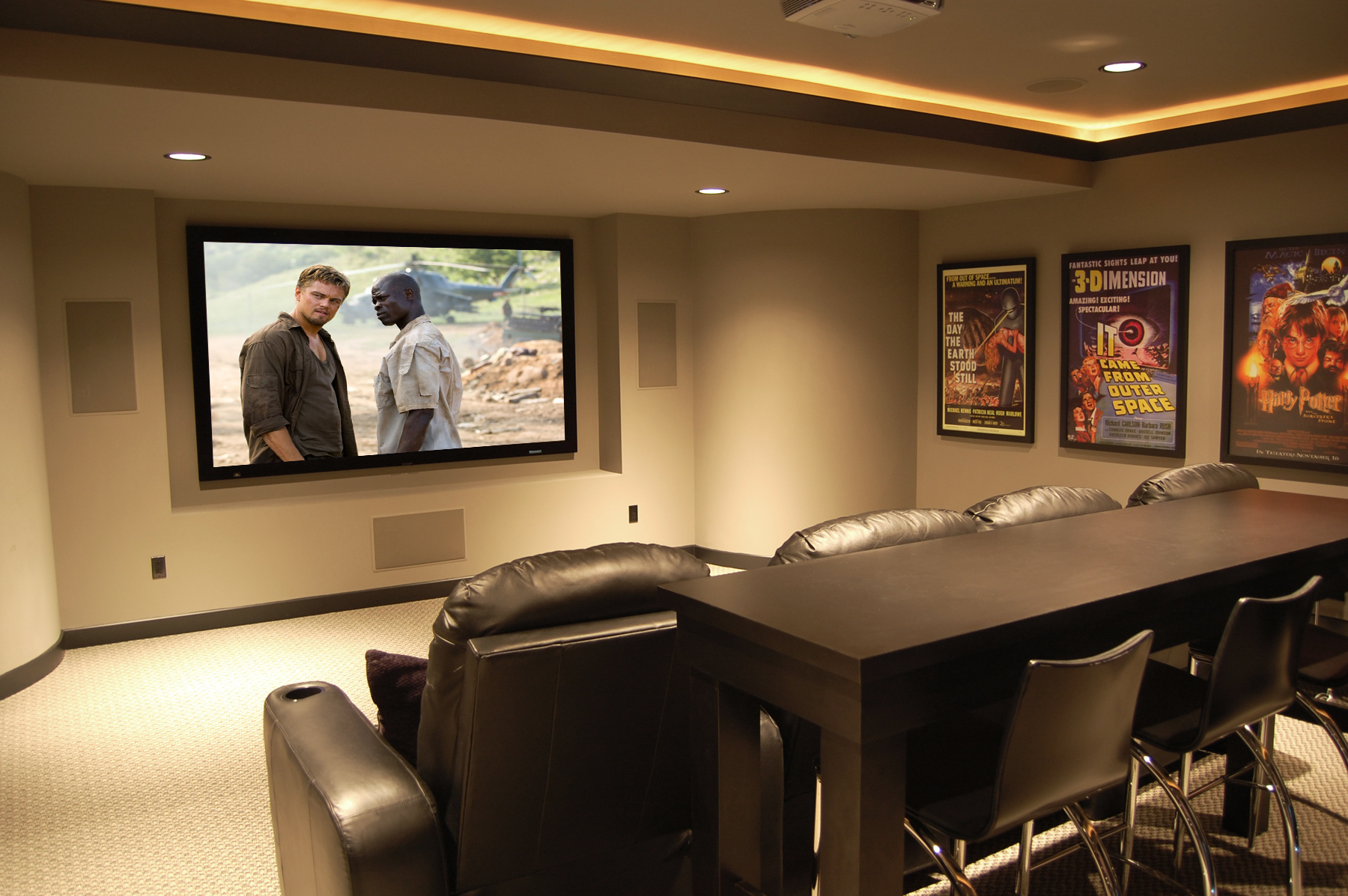 Home cinema designs and ideas for Furniture for media room