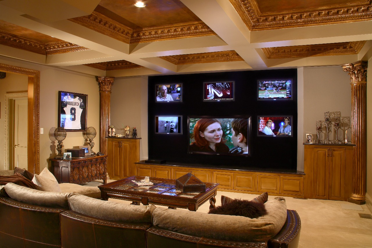 Very inspiring decorating interior modern home theater - Modern family room design ideas ...