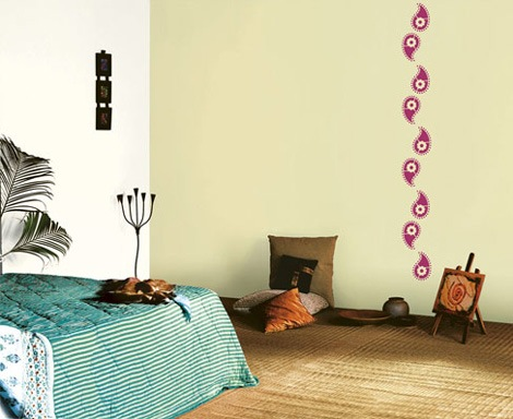 Trendy stencil wall fashion for your home Bedroom wall designs in pakistan
