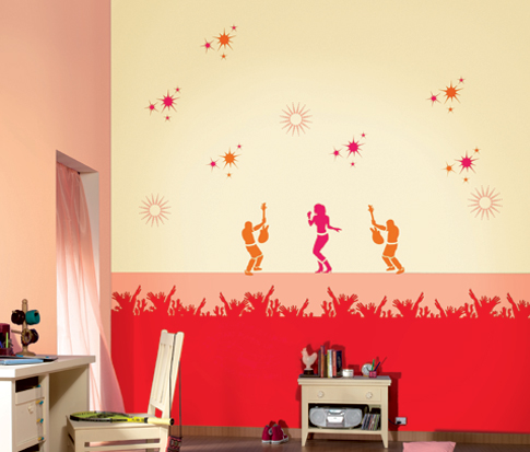 Trendy stencil wall fashion for your home for Asian paints home decoration