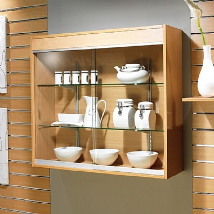 Crockery unit design ideas for Wall hanging showcase designs