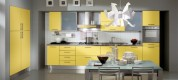 yellow-kitchen-design-with-lacquered-furniture
