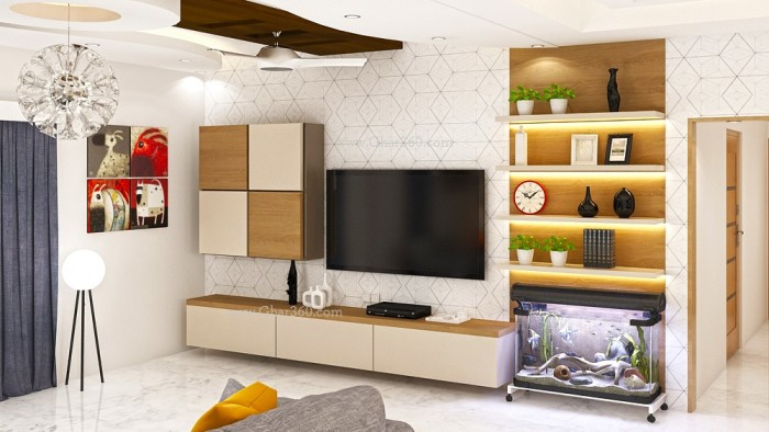 7 Cool Contemporary TV Wall Unit Designs For Your Living Room