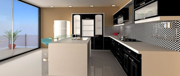 Black Indian Parallel Kitchen