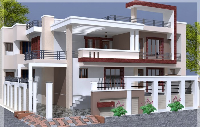 box type house front elevation 2