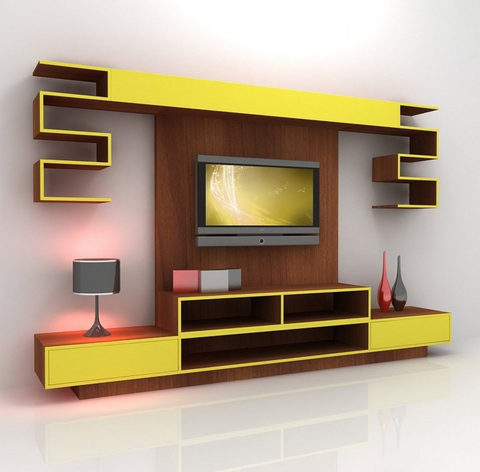 7 cool contemporary tv wall unit designs for your living room - Design Wall Units