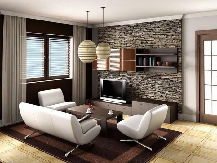 Foyer Area Design With Stone Cladding