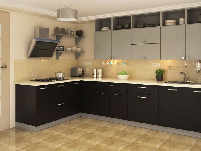 Indian Style Modular Kitchen Design for Apartment