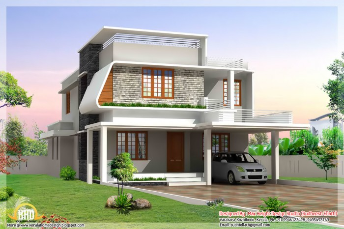 Single Floor Elevation Usa : Single floor residence elevation joy studio design
