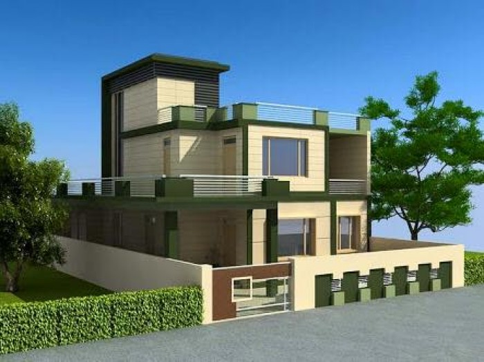 Home design exterior view for House design outside view
