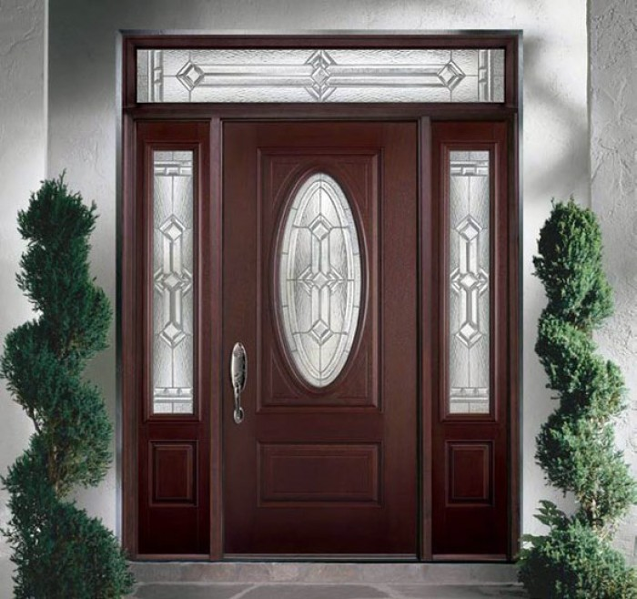 Modern main entrance door design for Big main door designs