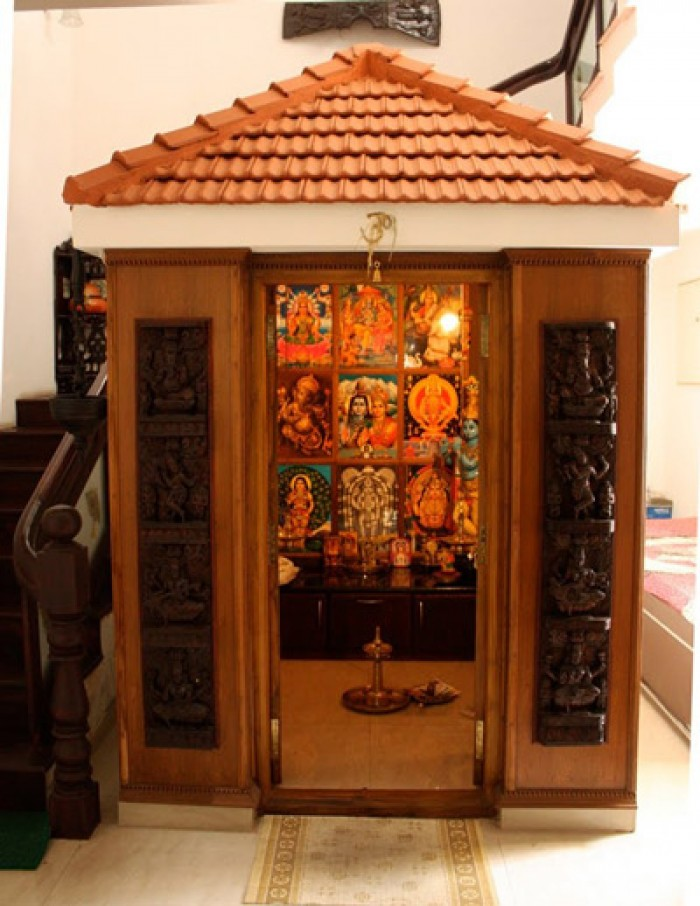 Traditional Amp Modern Pooja Room
