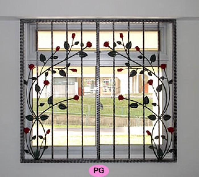Window grill designs for Iron window design house