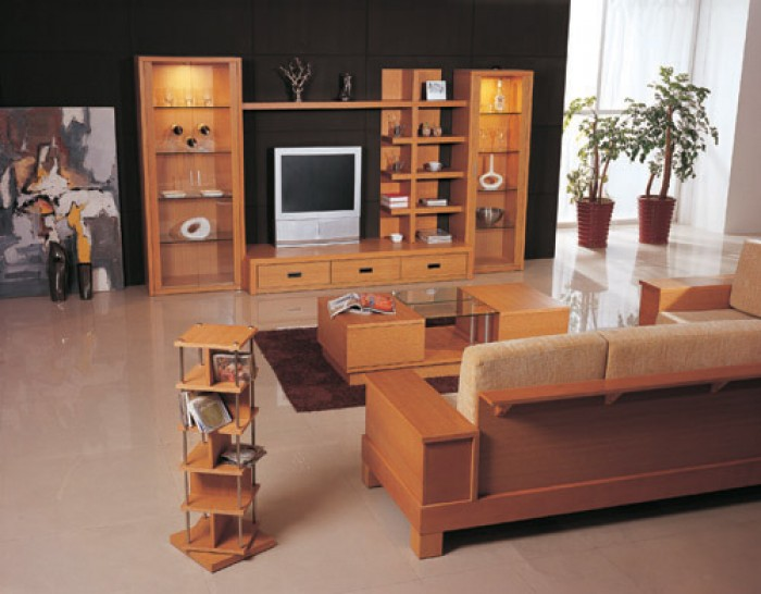 Wooden furniture design for living room in india for Choosing furniture for a small living room