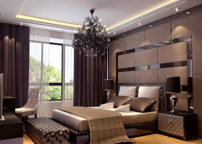 Elegant master bedroom interior design for Master bedroom interior design images