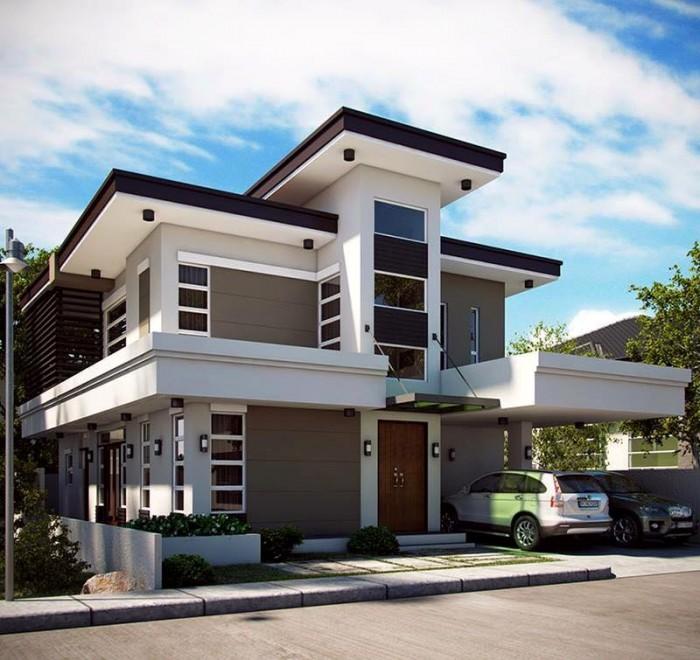 Ghar360 home design ideas photos and floor plans for 2 bedroom apartment exterior design