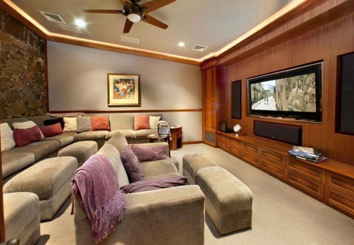 Stunning luxury home theater for Interior designs by ria
