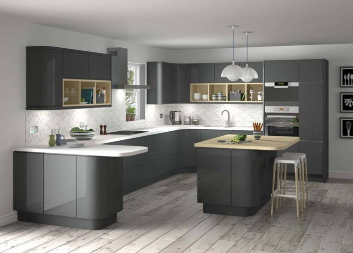 Grey Kitchen Ideas That Are Sophisticated And Stylish: 10 Beautiful Modular Kitchen Ideas For Indian Homes
