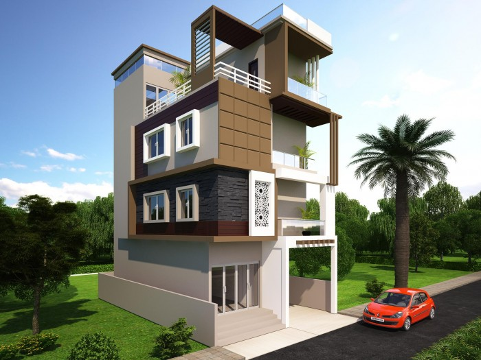 Front Elevation House Balcony : Beautiful home front elevation designs and ideas