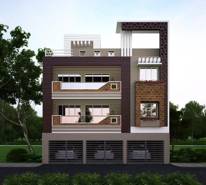 Latest house elevation designs 2016 for Normal house front design