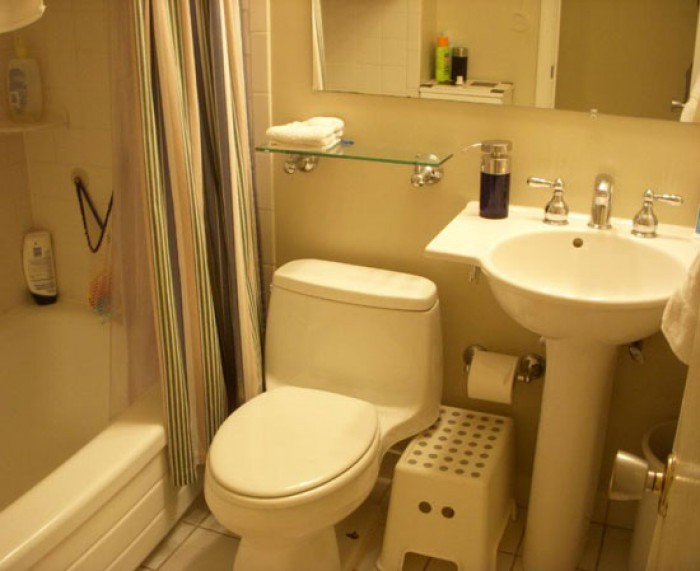 Small bathroom interior for Bathroom decor for small bathrooms