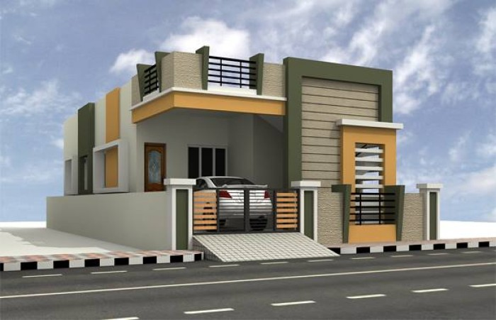 Ghar360 home design ideas photos and floor plans for Simple house elevation models
