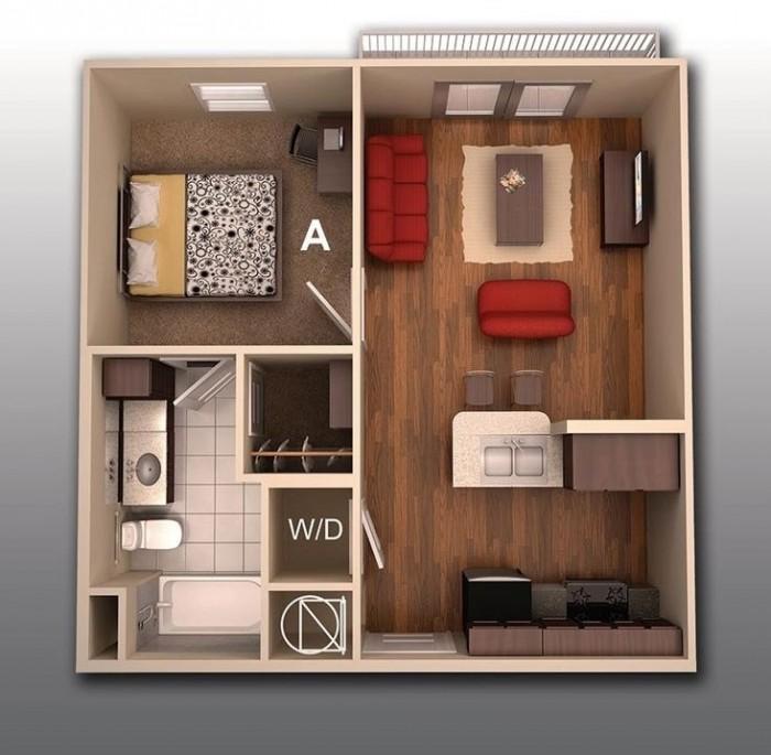 studio apartment efficiency apartment floor plans and designs trend home