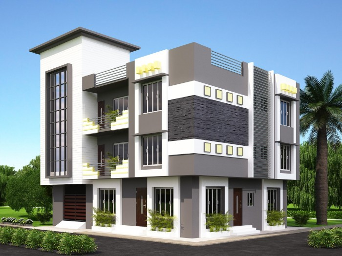 New modern front elevation designed by ghar360 for Design your home exterior