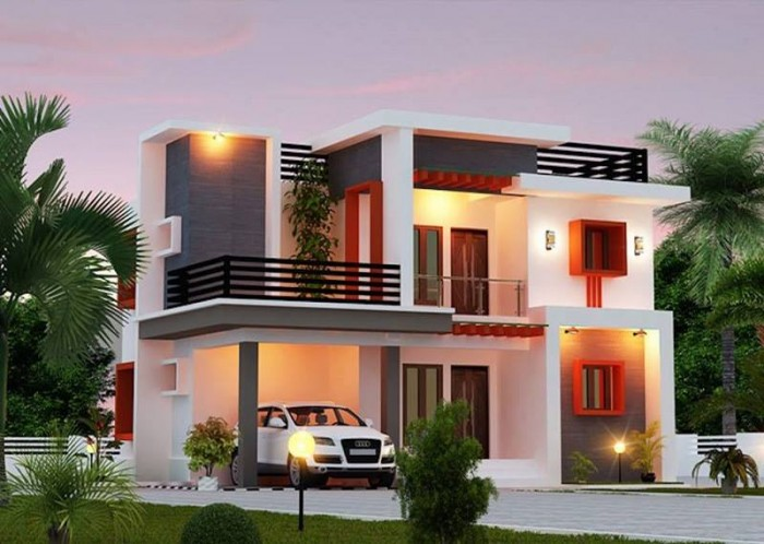 Beautiful home front elevation designs and ideas for Front house design for small houses