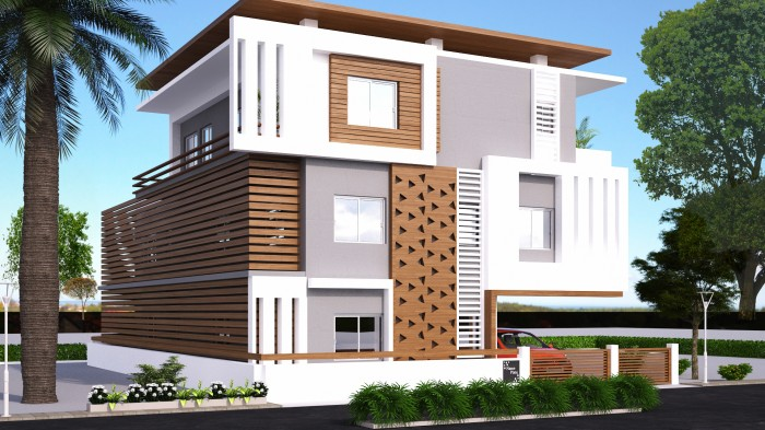 Home exterior design g 2 andhra client - Best exterior design of house in india ...