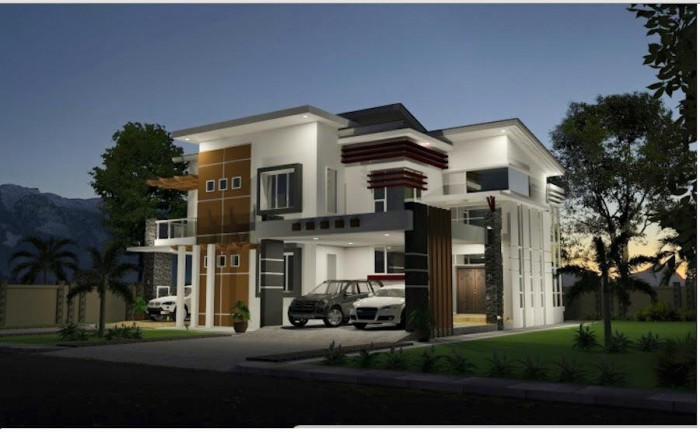 Elegant Modern Residences Exterior Design