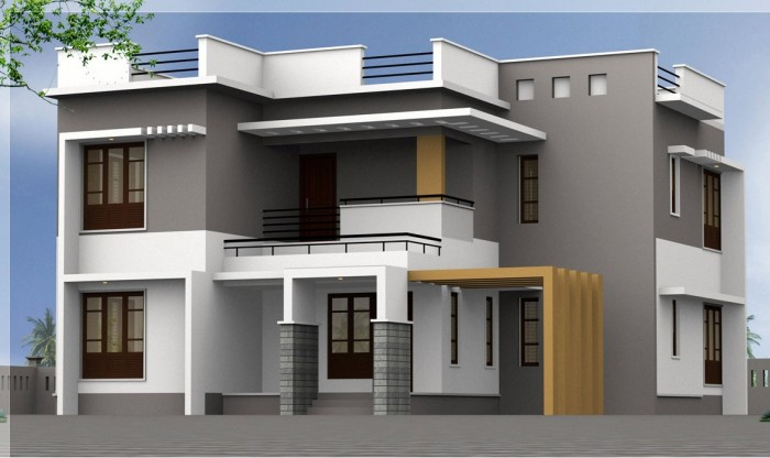 Small Box Type Home Elevation