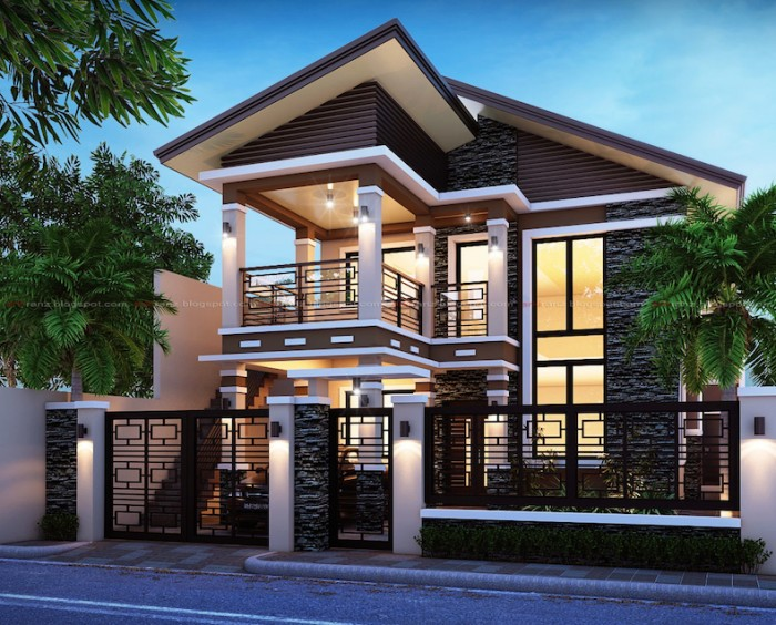 Elegant modern residence for Small house exterior design philippines