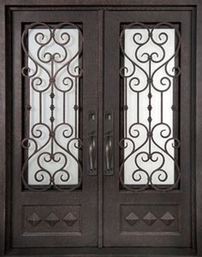 Door grill lancaster mahogany lancaster half lite door for House door designs catalogue
