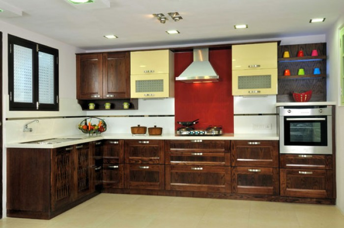 L shaped kitchen design style Indian kitchen design picture gallery