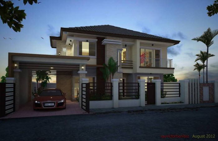 Stunning two storey modern residential house for Two storey residential house design