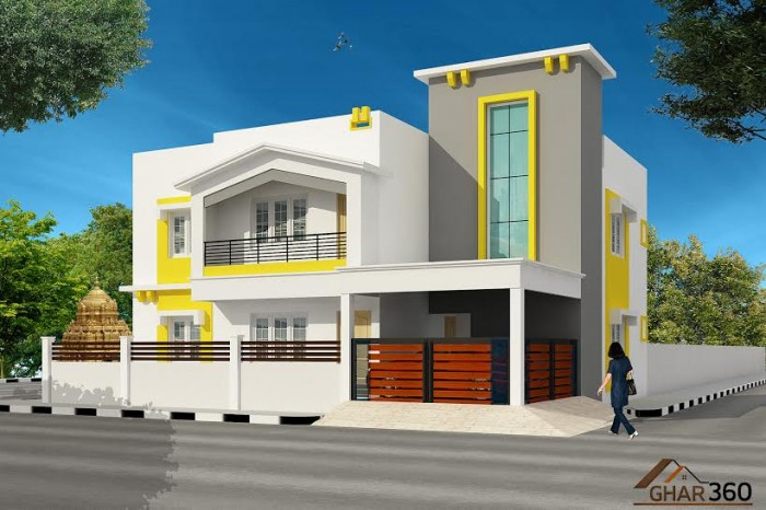 Front Elevation House Colours : Indian best front elevation designs