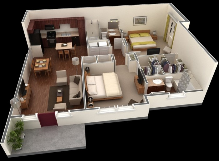 2 Bedroom Apartment Design
