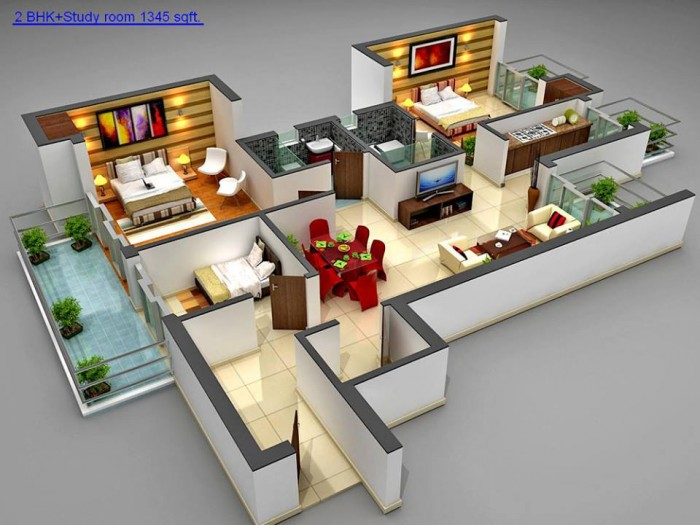 Ghar360 home design ideas photos and floor plans for What is a great room floor plan