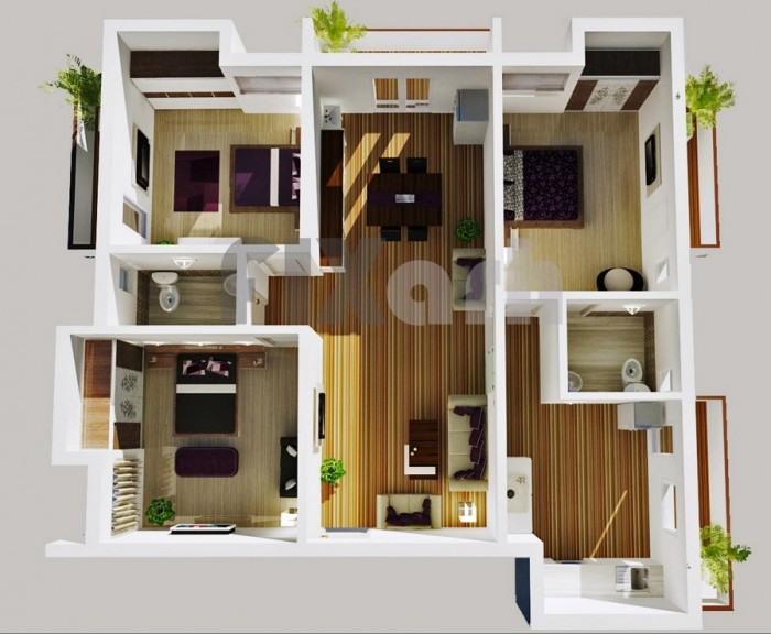 3 Bhk Home Design