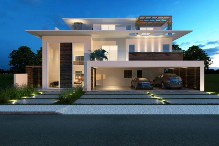 Contemporary residences with elegant exteriors for Modern residences