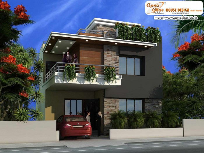 Ghar360 home design ideas photos and floor plans for Modern duplex house plans in nigeria