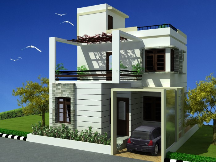 Front Elevation Of 120 Sq Yards House : Modern beautiful duplex house