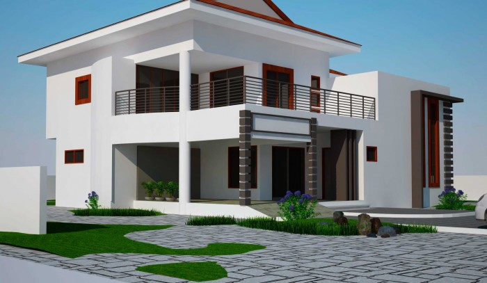 Modern two storey house design Modern 2 story homes