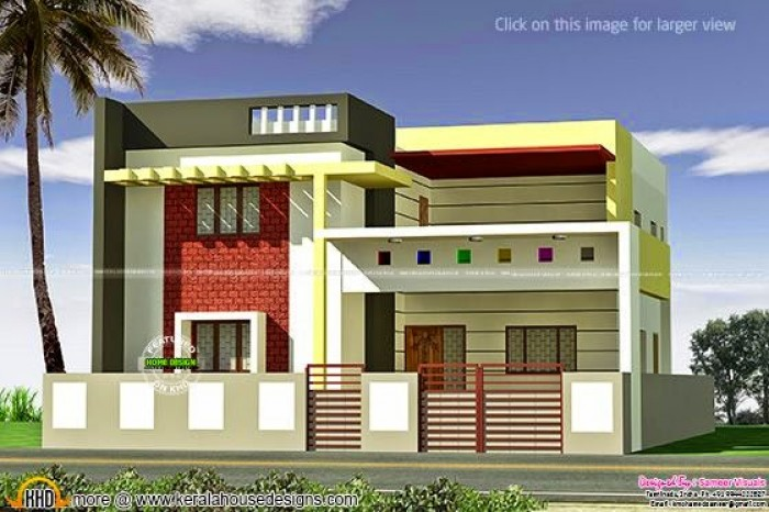 Bhk Plan Elevation Section : House plans in tamilnadu with photos joy studio design