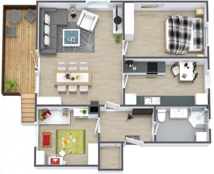 Small 2 BHK Plan